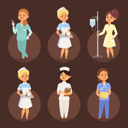 Doctor nurse character vector medical woman staff flat design. Hospital team people doctorate illustration. Illustration