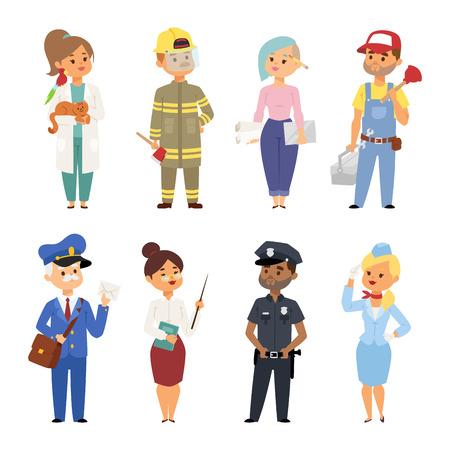Gens professions différents illustration vectorielle. succès succès caractère travail d & # 39 ; équipe humain debout des dessins animés de la communauté de travail de travail en costume Banque d'images - 99086707