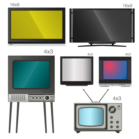 TV vector screen lcd monitor and notebook, tablet computer, retro templates. Electronic devices TV screens infographic. Technology digital device tv-screens, size diagonal display vector illustration.