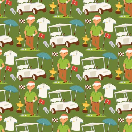 Golf pattern design Illustration