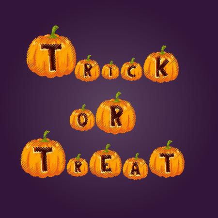 Halloween party celebration invitation card vector illustration pumpkin background design