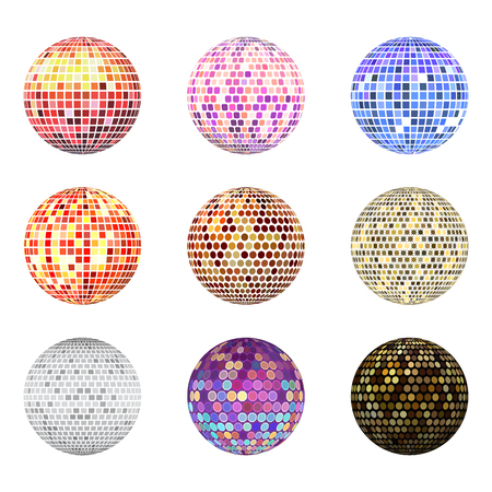 Disco ball discotheque music party night club dance equipment vector illustration. Stock Vector - 99323596