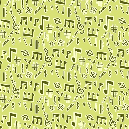 Notes music vector melody colorfull musician symbols sound notes melody text writting audio musician symphony illustration seamless pattern background. Archivio Fotografico - 99465262