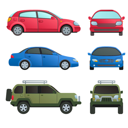 Car auto vehicle transport type design travel race model technology style and generic automobile contemporary kid toy flat vector illustration.