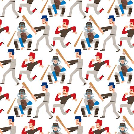 Baseball team players pattern design