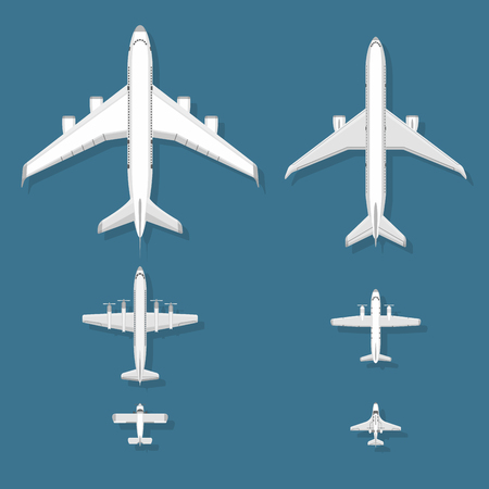 Airplane icons set collection