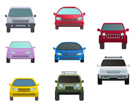 Vehicle icons set collection Ilustracja