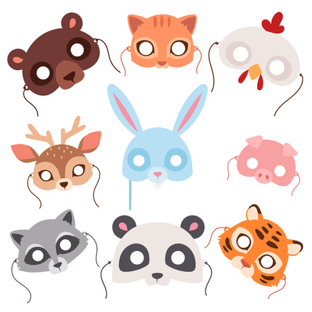 Animals carnival mask set collection