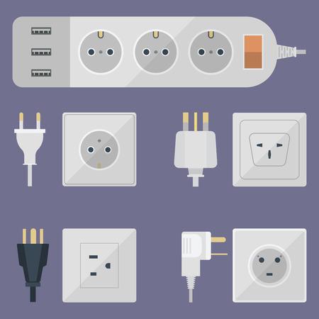 Electrical outlet plug illustration Stock Illustratie