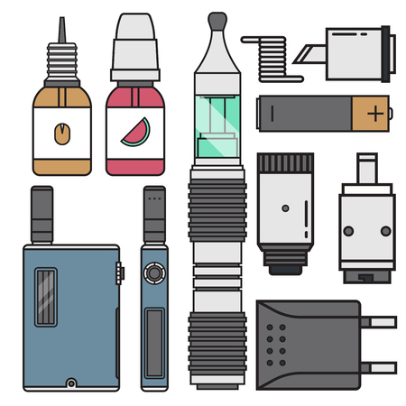 Set of vape devices vector illustration