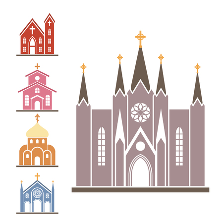 Christianity religion vector religionism flat icons illustration of traditional holy sign silhouette praying religionary design christian faith religionist priest church traditional culture symbol. Stock Vector - 99972520