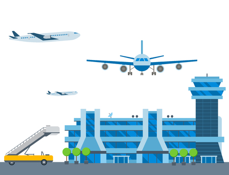 Aviation airport vector airline graphic airplane airport transportation fly travel symbol illustration Archivio Fotografico - 102723918