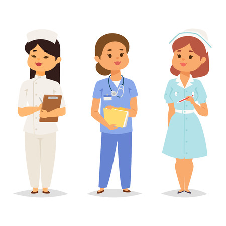 Doctor nurse character vector medical woman staff flat design hospital team people doctorate illustration. Stock fotó - 102724109