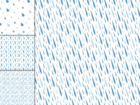 Rain drops seamless pattern background vector. Nature raindrop abstract stylish weather design. Graphic blue water wallpaper texture backdrop.