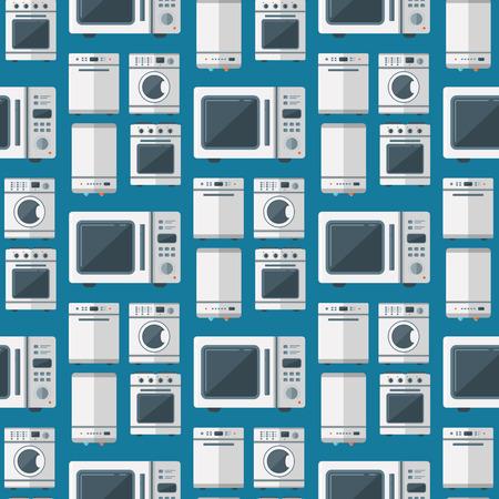 Ilustración de herramientas de tarea de tecnología doméstica de vector de electrodomésticos domésticos cocina tecnología doméstica. Limpieza de lavandería, electrodomésticos, equipos domésticos, fondo transparente.