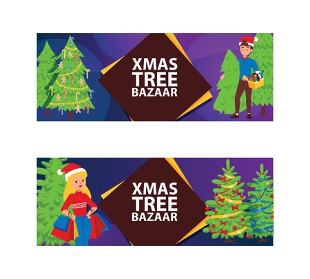 Christmas winter sale vector girl woman with shopping bags 2019 Xmas advertisement shopping big offer banner to buy gifts advertising poster vecrtical flyer illustration market super sale shopping.