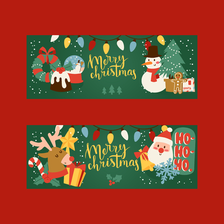 Christmas 2019 Happy New Year greeting card vector background banner holidays winter xmas hand draw congratulation New Year poster or web banner illustration.