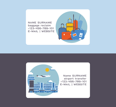 Airport vector plane flight business card departure arrival terminal airports building illustration backdrop traveling by airplane transport business-card background  イラスト・ベクター素材