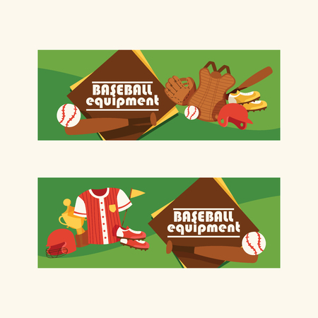 Baseball vector pattern catchers sportswear and batters baseballbat or ball for competition backdrop illustration sportsman clothes with catchers glove background set banner.