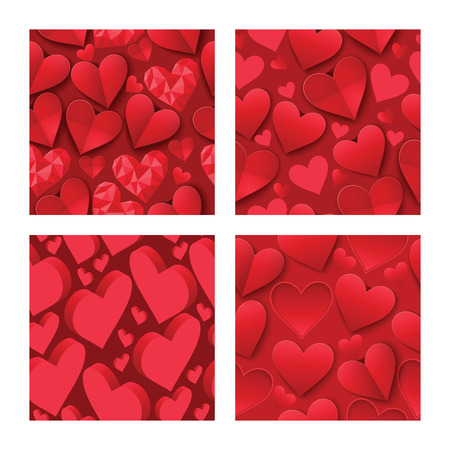 Heart on valentines day in love seamless pattern vector lovely red sign on hearted celebration and greeting card backdrop loving heartiness illustration background.