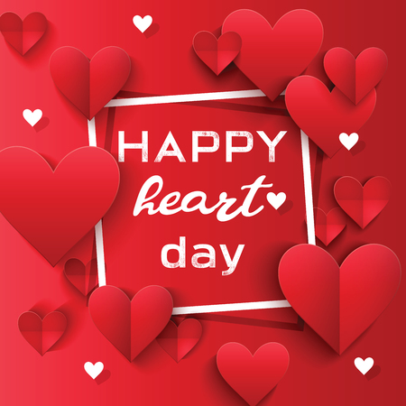 Heart on valentines day in love pattern vector lovely red sign on hearted celebration and greeting card backdrop loving heartiness illustration background.