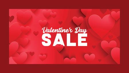 Hart op Valentijnsdag in liefde patroon vector mooie rode teken op hearted viering en wenskaart achtergrond liefdevolle hartelijkheid afbeelding achtergrond. Vector Illustratie