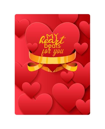 Hart op Valentijnsdag in liefde patroon vector mooie rode teken op hearted viering en wenskaart achtergrond liefdevolle hartelijkheid afbeelding achtergrond.