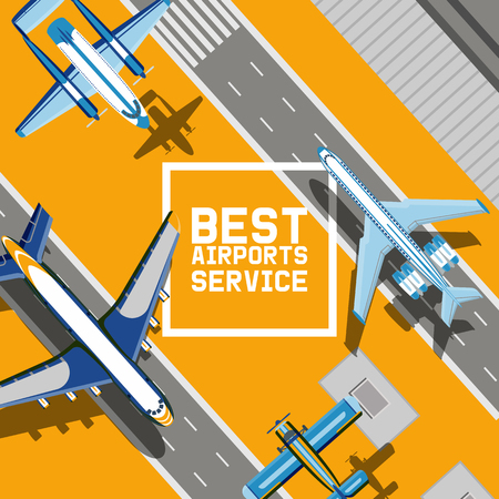 Plane vector traveling on aircraft airplane jet flight transportation flying to airport langing strip illustration aviation backdrop of aeroplane airliner and airfreighter cargo banner background.
