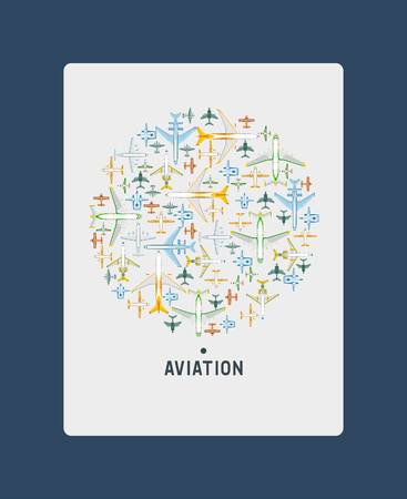 Plane vector traveling on aircraft airplane jet flight aviation flying to airport illustration aviation backdrop of aeroplane airliner and airfreighter cargo transportation banner background.