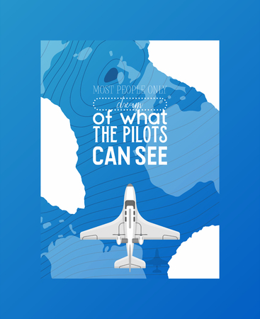 Plane vector aircraft airplane jet flight transportation flying to airport illustration aviation backdrop of aeroplane airliner and airfreighter cargo traveling map banner background.