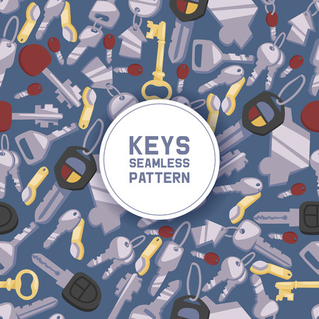 Key vector seamless pattern house keys lock for safety and home security protection locked secure backdrop interlock lockout keyed locking car system illustration background