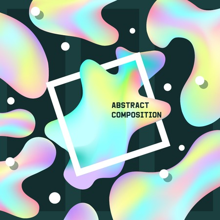 Holographic vector hologram foil texture and irregularities illustration backdrop set in blue pink green colors with scratches abstract background.