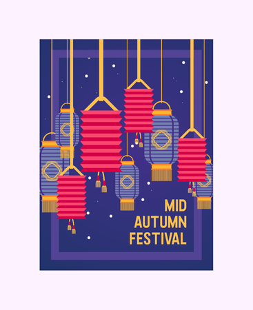 Chinese lantern pattern vector traditional red lantern-light and oriental festival decoration of china culture for asian celebration illustration backdrop of festival decor light background.