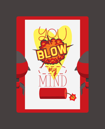 Bomb explosion vector weapon dynamite blow your mind thinking destruction boom illustration brain explosive backdrop wallpaper background. Stock Vector - 123665503