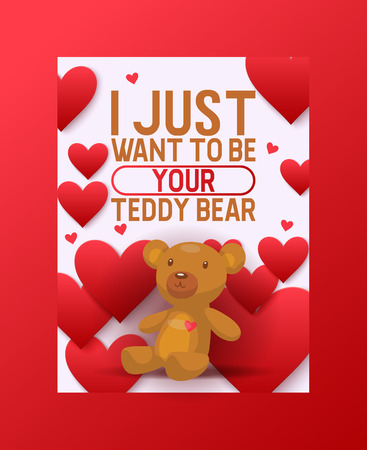 Bear vector set cartoon animal she-bear panda character illustration backdrop animalistic lovely of childish teddybear playing or hugging with heart on valentines day background.
