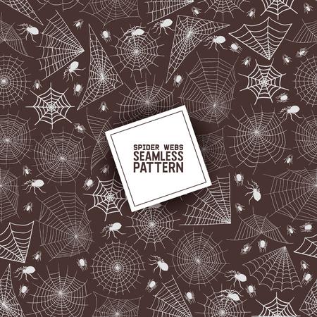 Web Spider nahtlose Muster Vektor Spidery Halloween Hintergrund Spinnennetz Spinnennetz Horror Illustration Hintergrund des Spinnennetzes Scary Webbed Net Wallpaper. Vektorgrafik
