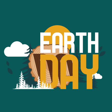 Wood Eart Day vector pattern wooden circle rings tree log lumbers logging trunks and hardwood timbered materials illustration environmental backdrop lumbering of firewoods in forestbackground wallpaper.