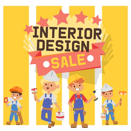 Builder vector constructor interior design children character building construction illustration backdrop of worker contractor kid buildup constructively background wallpaper.