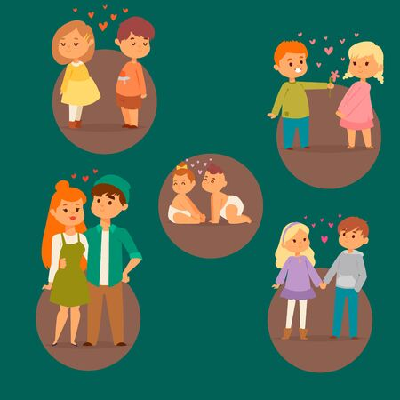 Couple in love vector characters togetherness happy smiling people romantic woman amorousness together adult relationship. Female lifestyle beautiful happiness couple in love characters.