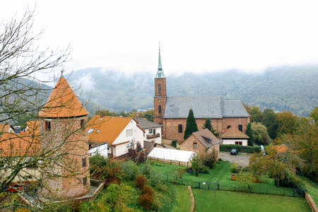 old town townhall: Dilsberg , Germany, a view of the old town
