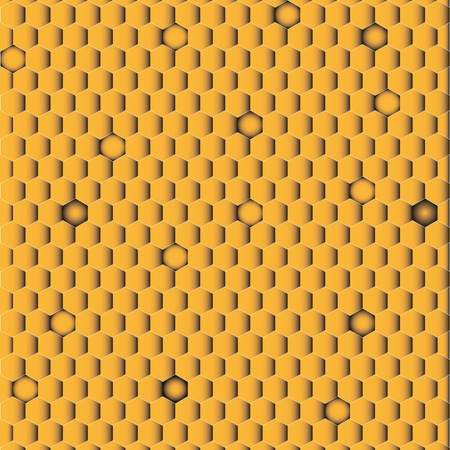 Orange honeycomb for texture background.  Vector