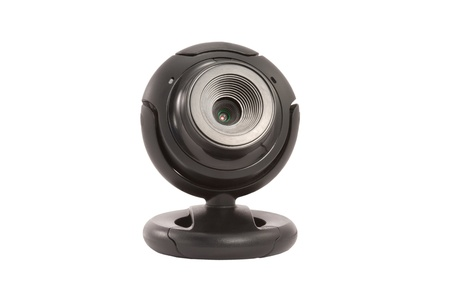 Black webcam on a white background isolated photo