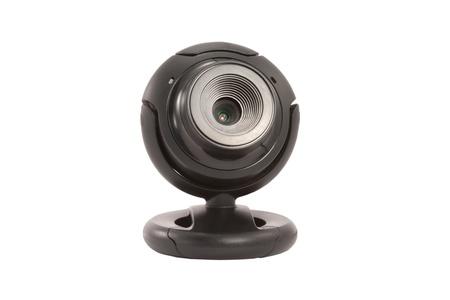 Webcam noir sur fond blanc isolé Banque d'images - 14383047