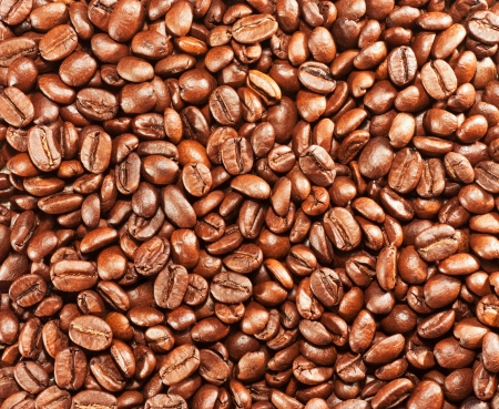 A lot of roasted coffee beans background