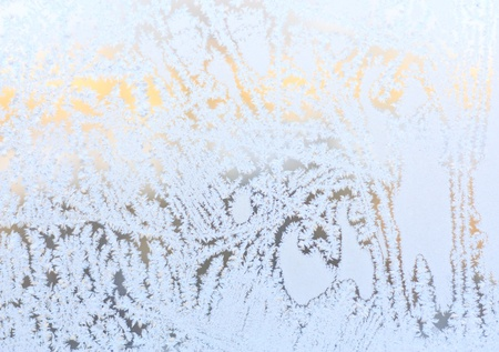 Sparkling snow pattern on glass close up Stock Photo - 17292295