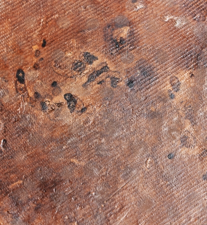 Texture of dirty, worn brown clay surface photo