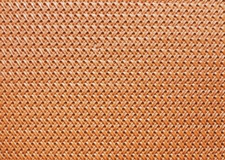 horisontal: Braided beige leather texture close-up horisontal orientation
