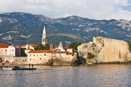 View of the old town of Budva in Montenegro photo