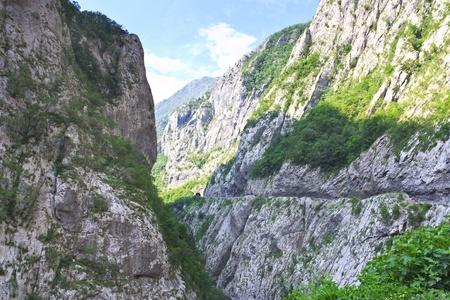 hill of tara: Tara river canyon in Montenegro mountainscape horisontal