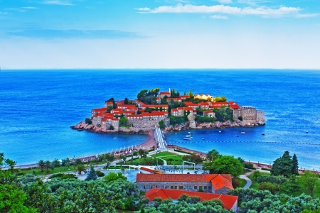 View of the island of St. Stephen in Montenegro